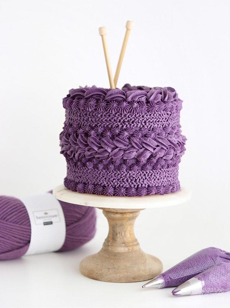 knitted buttercream cake tutorial