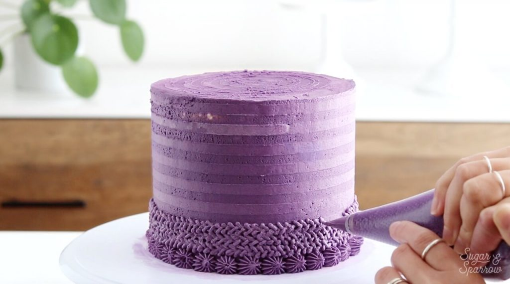 knitted sweater cake tutorial