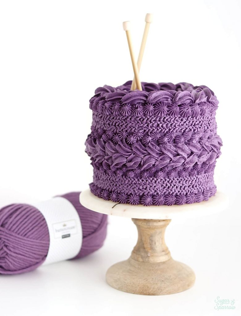 Knitted sweater buttercream cake by Sugar and Sparrow