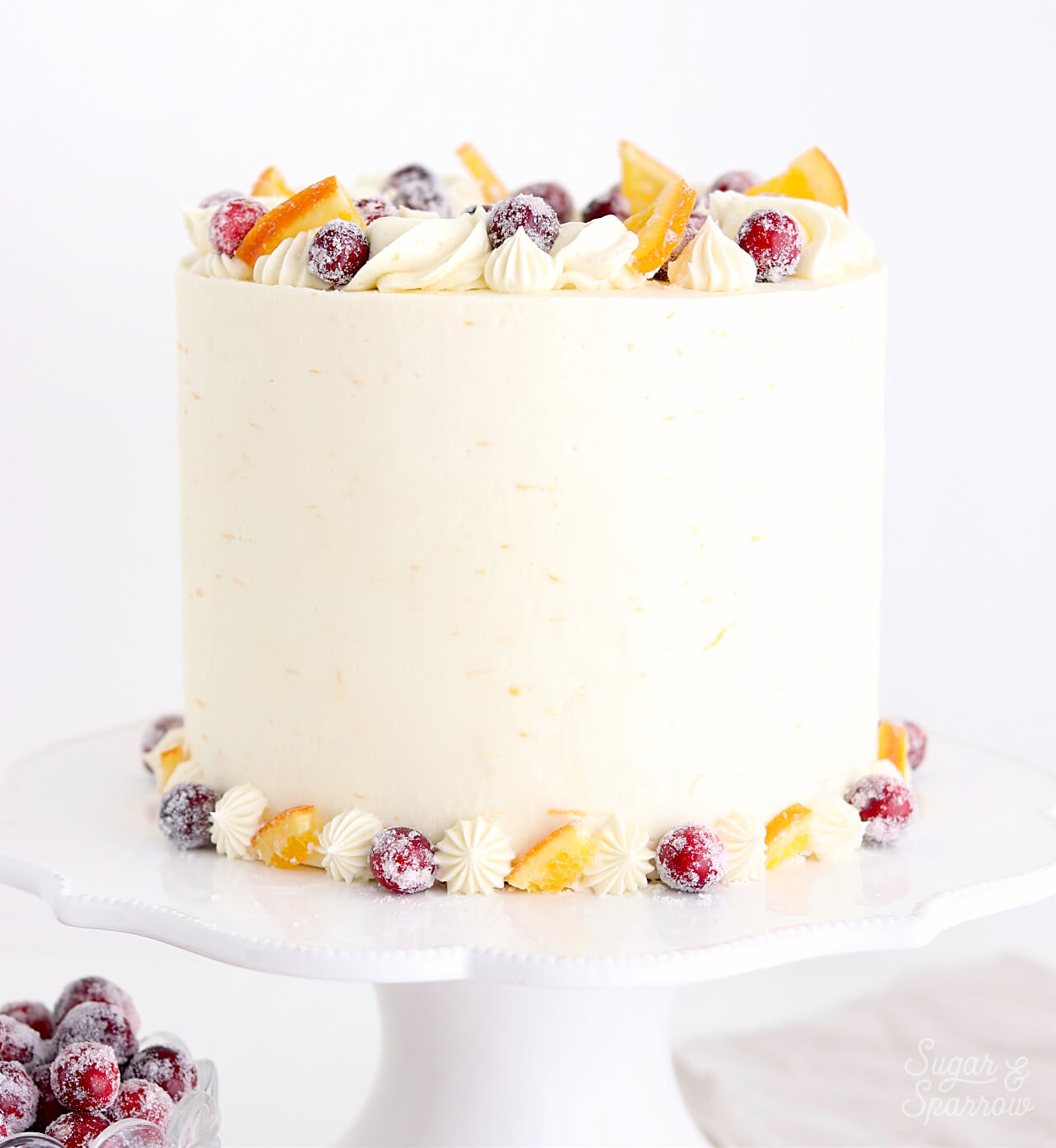 Cranberry Orange Cake Recipe by Sugar & Sparrow