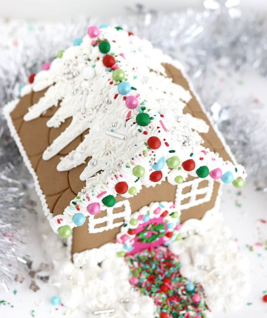 gingerbread house with sprinkles