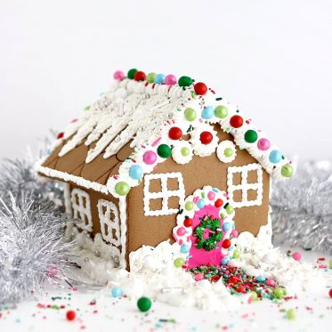 sprinkle gingerbread house by sugar and sparrow