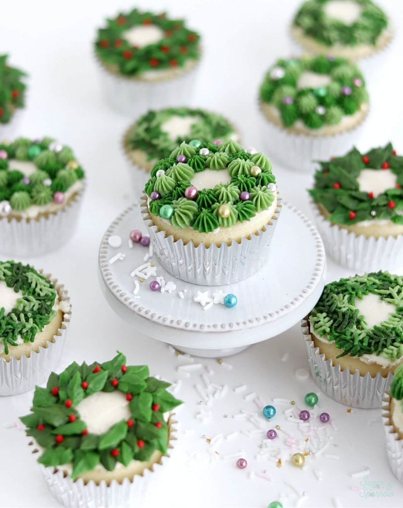 buttercream christmas wreath tutorial
