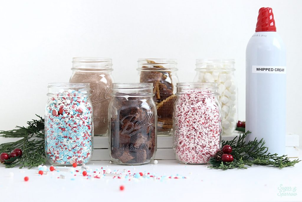 how to set up a hot cocoa bar