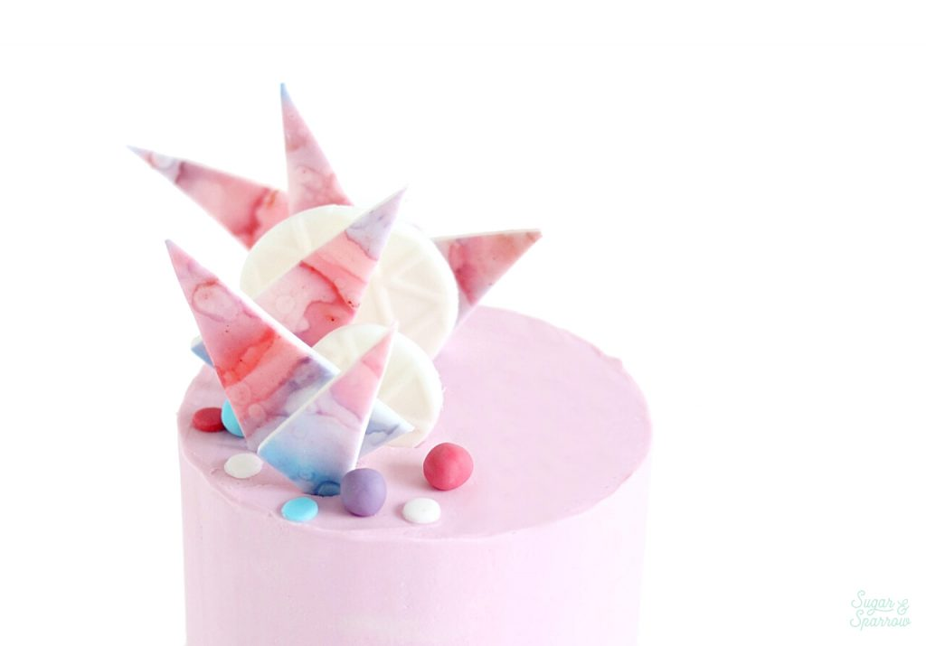 how to make watercolor fondant cake decorations