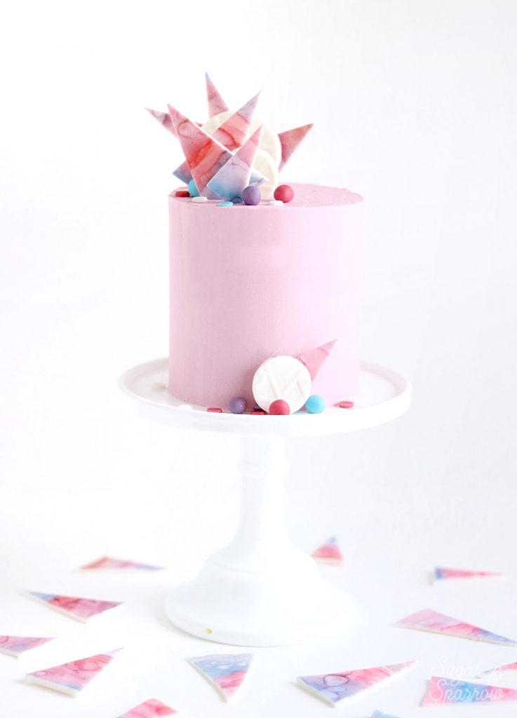 abstract buttercream and fondant cake by sugar and sparrow