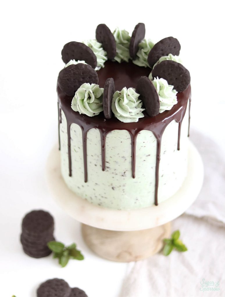 mint chocolate cookie cake recipe