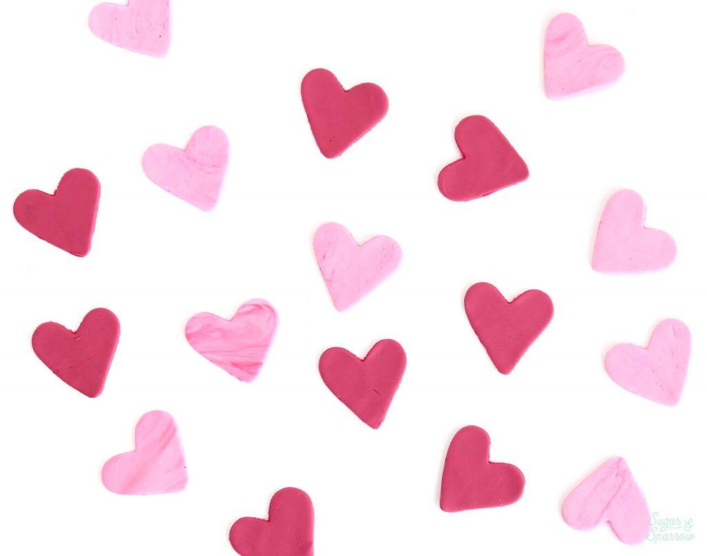 Fondant Hearts tutorial