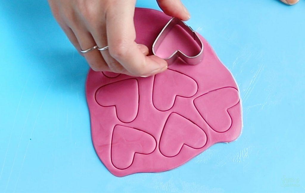 how to make fondant hearts