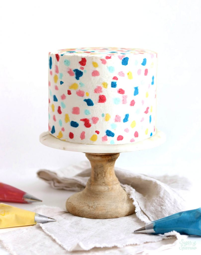 terrazzo cake by Sugar and Sparrow