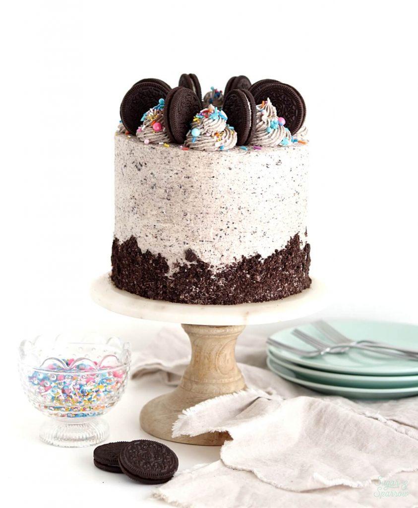 vegan chocolate cake recipe with vegan oreo buttercream
