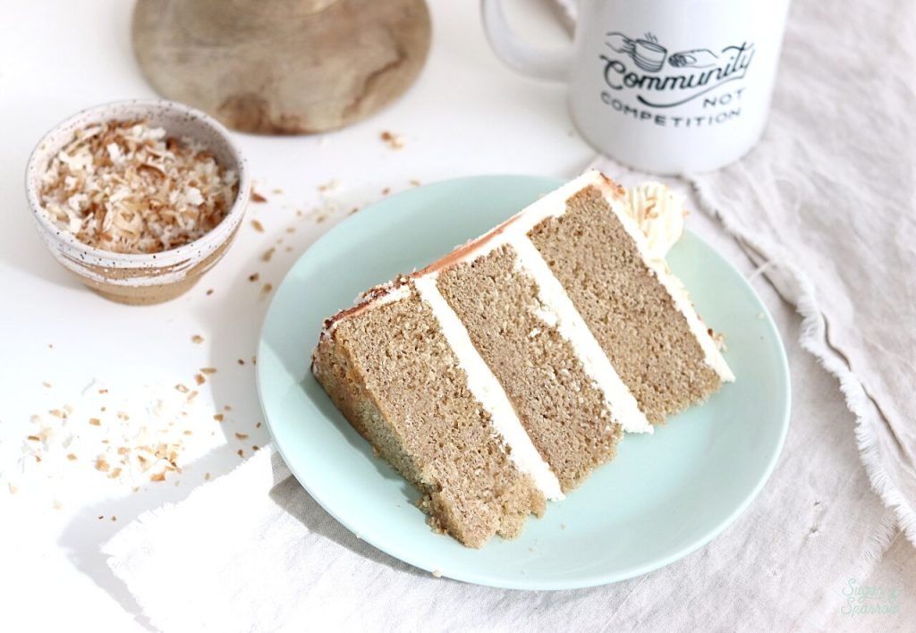 Chai Cake Recipe with Coconut Buttercream