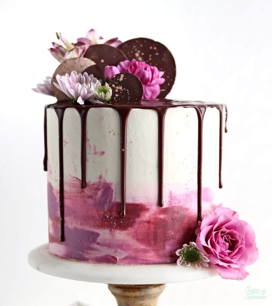 when to add flowers to cake