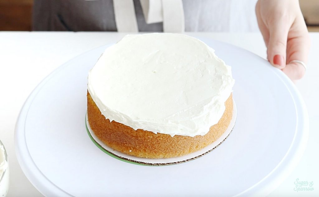 buttercream cake filling tutorial