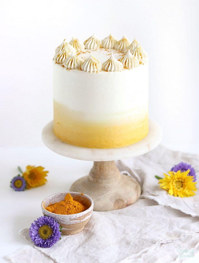 golden milk cake recipe with turmeric