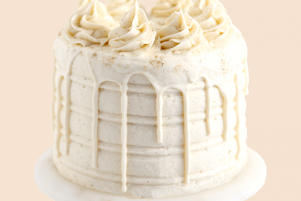 eggnog cake recipe by sugar and sparrow