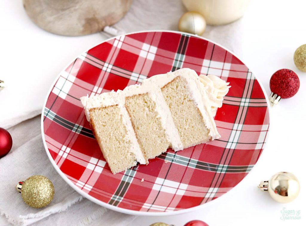 eggnog cake with eggnog buttercream recipe