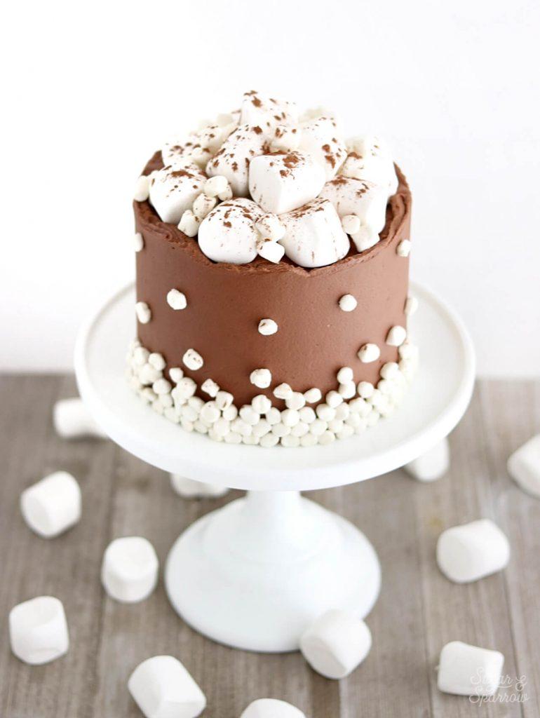 hot cocoa cake with marshmallows recipe