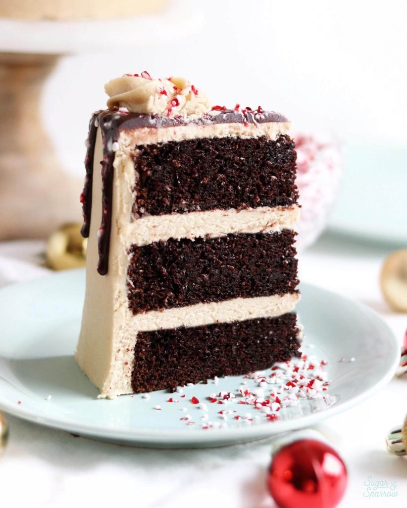 peppermint mocha cake with coffee buttercream recipe