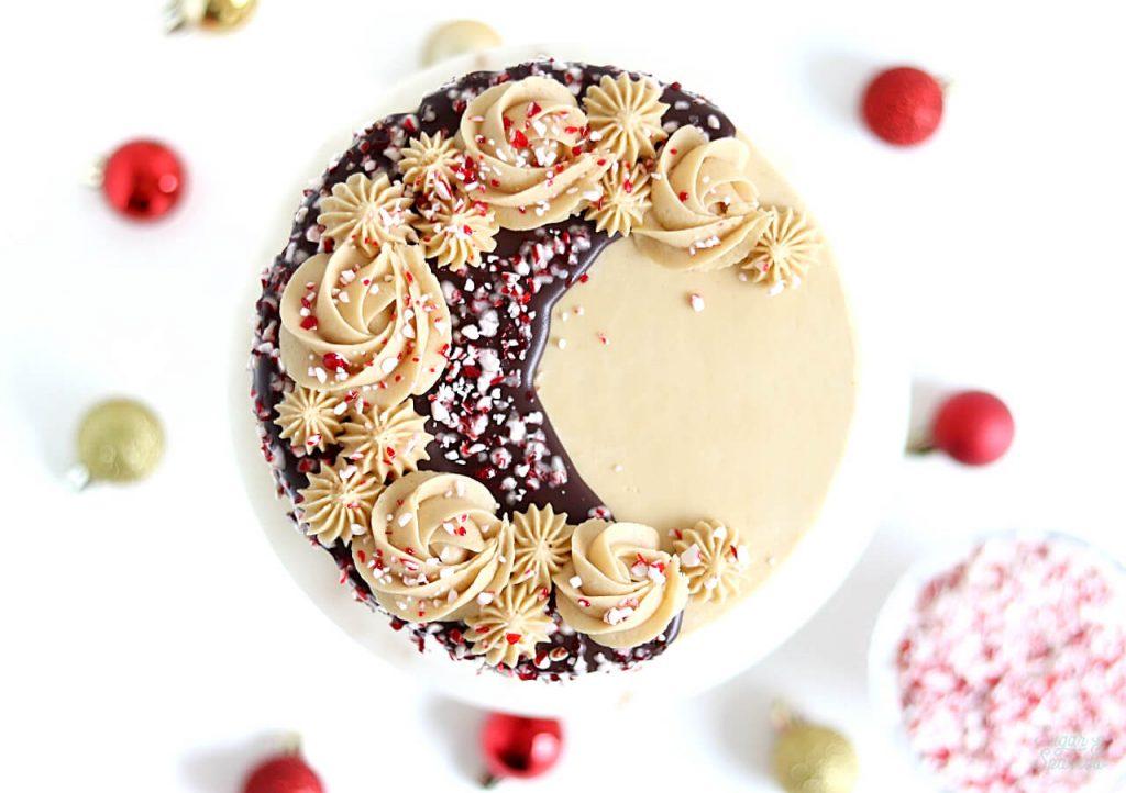 peppermint mocha drip cake recipe