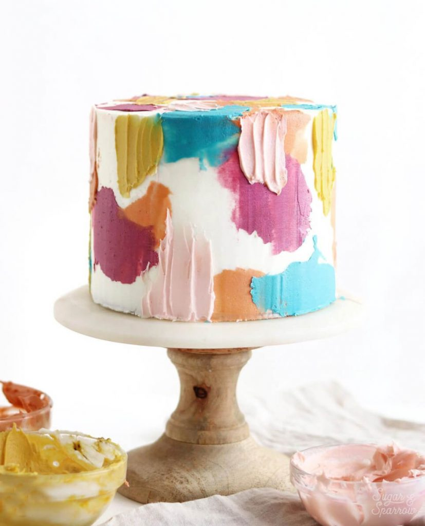 painted cake by sugar and sparrow