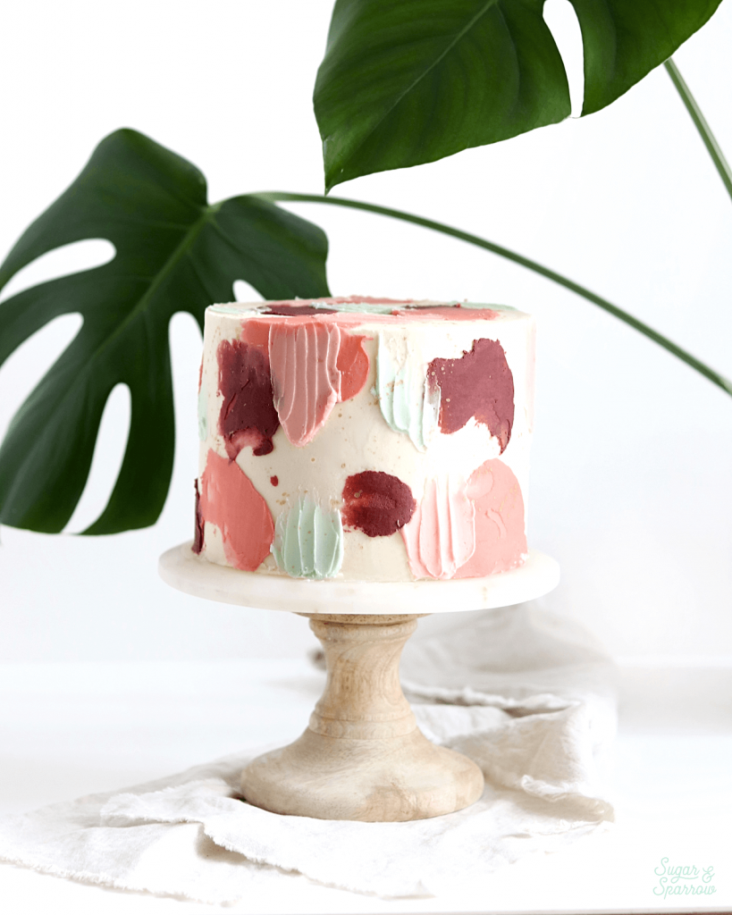how to transfer cakes onto a cake stand