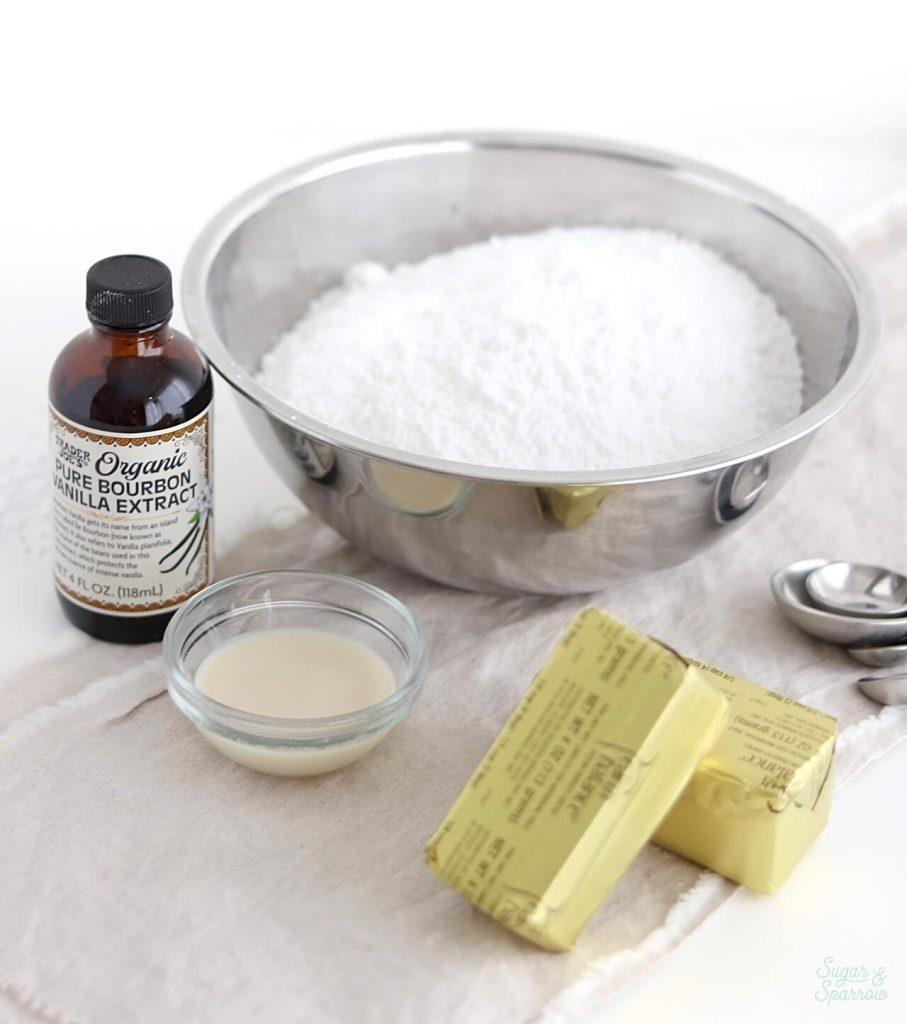 vegan vanilla buttercream ingredients