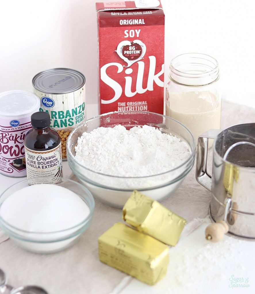 vegan vanilla cake ingredients