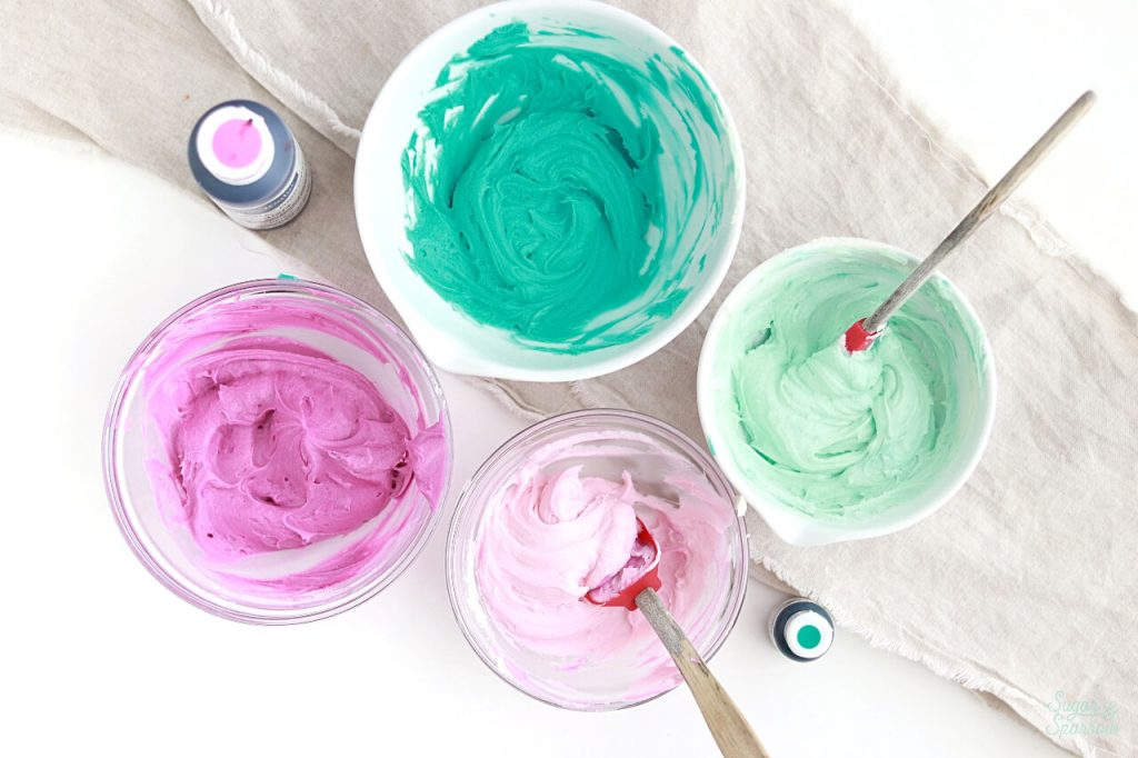 how to make buttercream colors