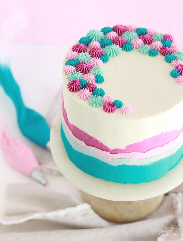 ombre buttercream cake tutorial