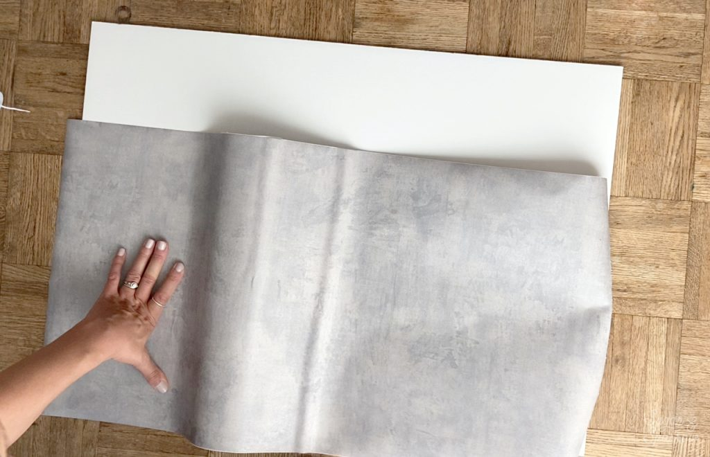 how to cover a board with contact paper