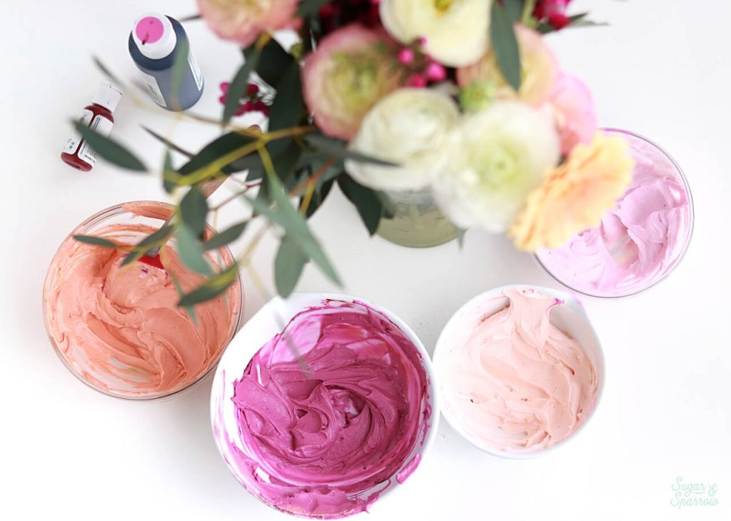 buttercream colors by sugar and sparrow