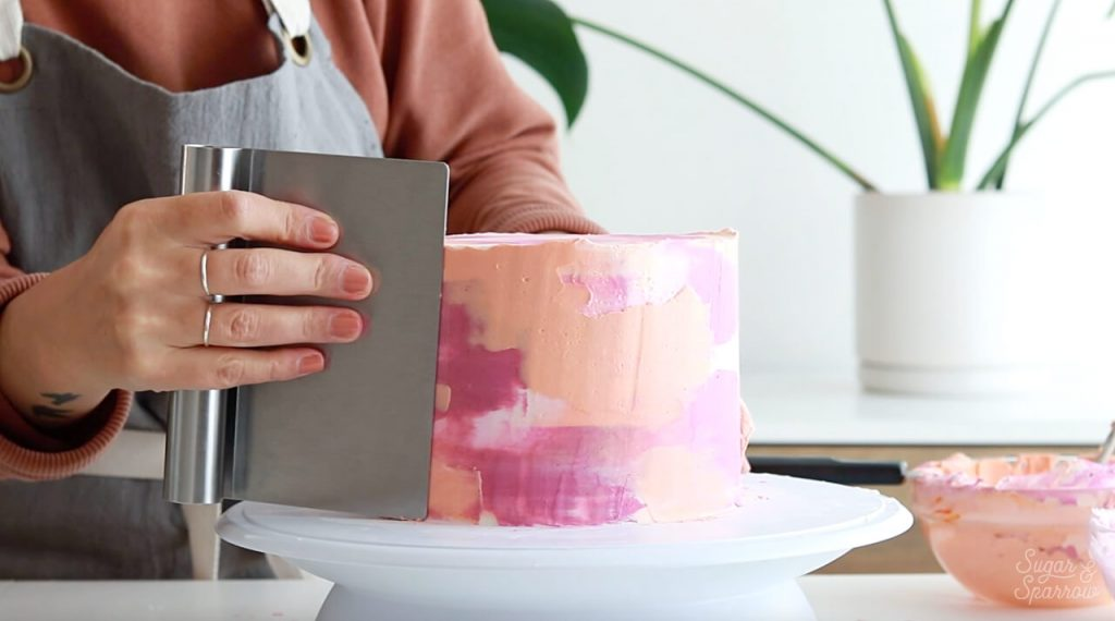 how to make buttercream watercolor cake
