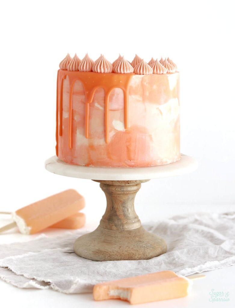 orange creamsicle cake recipe by sugar and sparrow