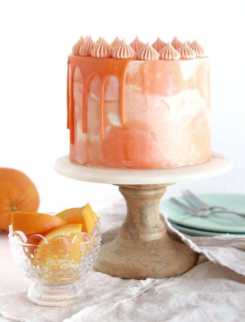 orange cake recipe with vanilla buttercream