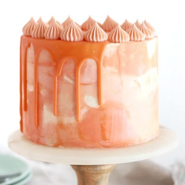 orange creamsicle cake by sugar and sparrow