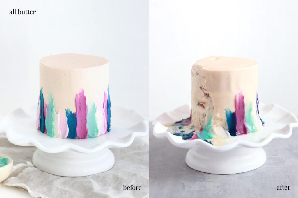 how to keep buttercream from melting