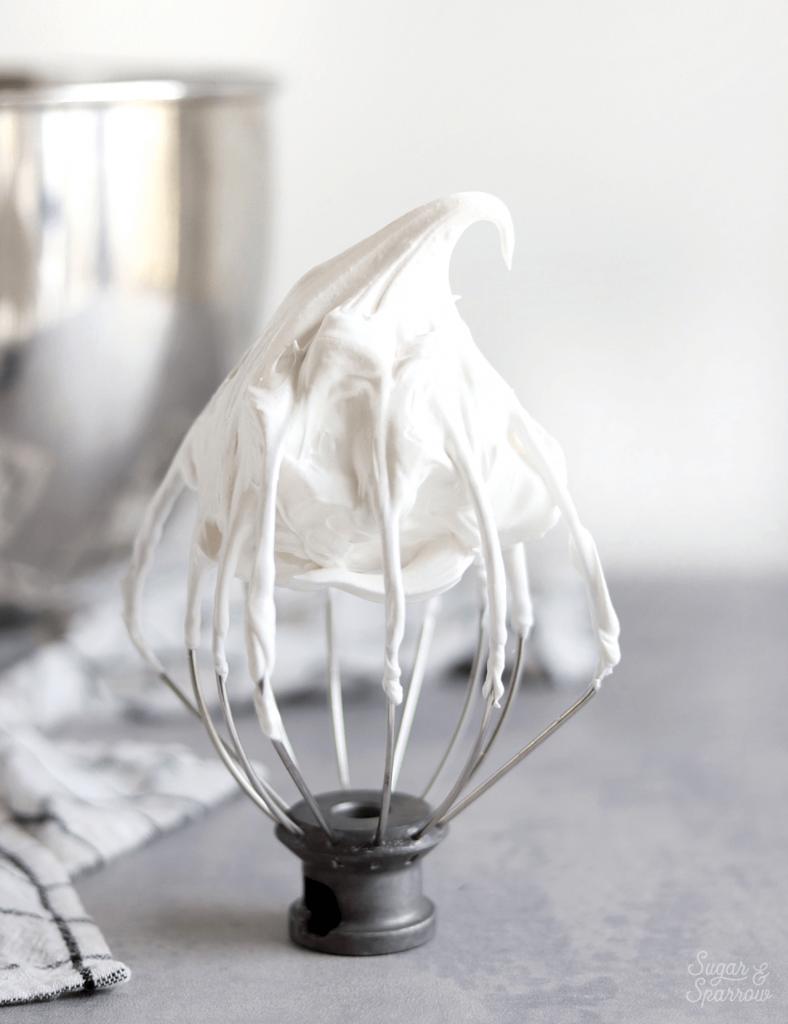 marshmallow meringue recipe by sugar and sparrow