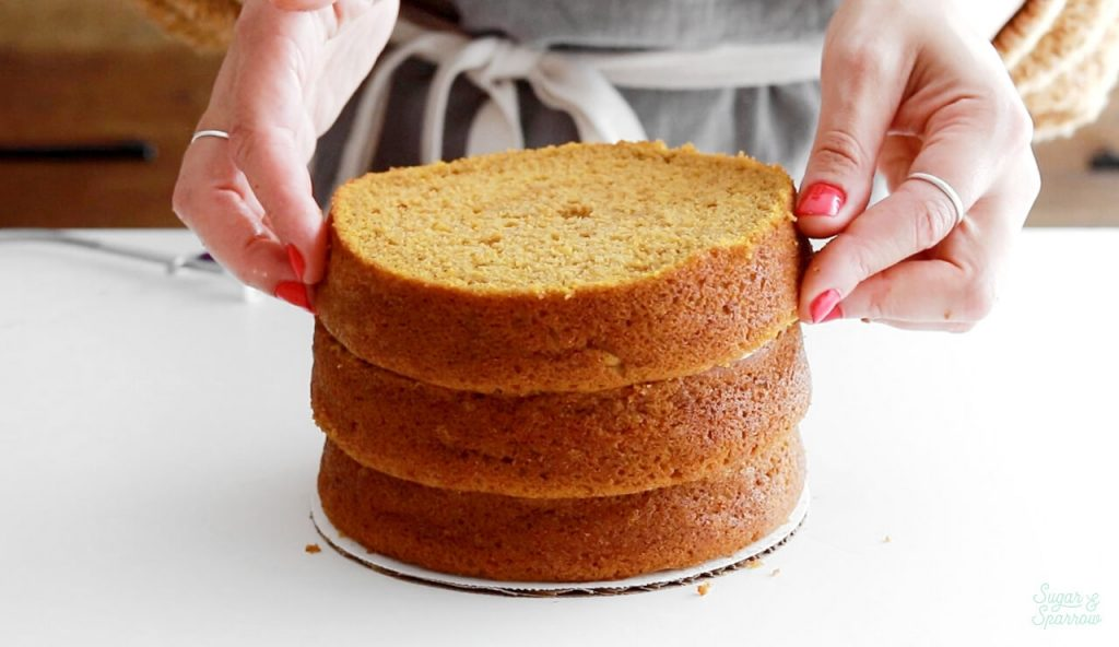 how to make level cake layers