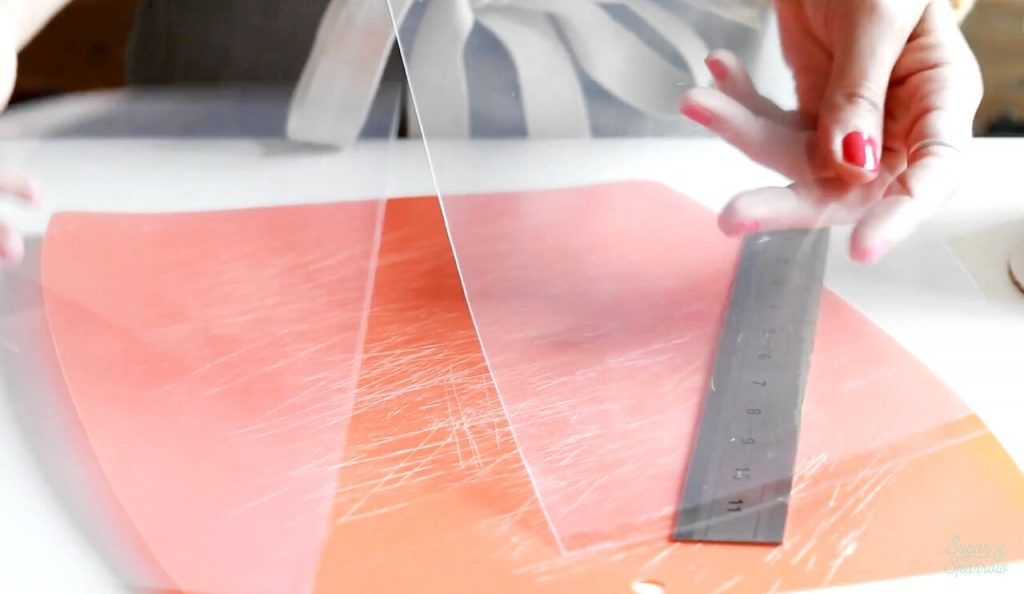 how to use acetate sheets for cakes
